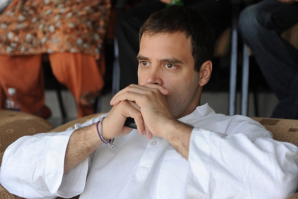 Rahul watches in horror as he strategises to dodge the pie launched at his face