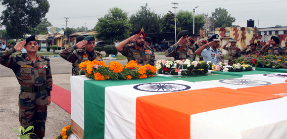 Army chief's final farewell to brave martyrs