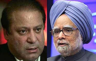 Nawaz Sharif and Manmohan Singh