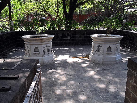 Kasturba Gandhi's samadhi, Aga Khan Palace, Pune.