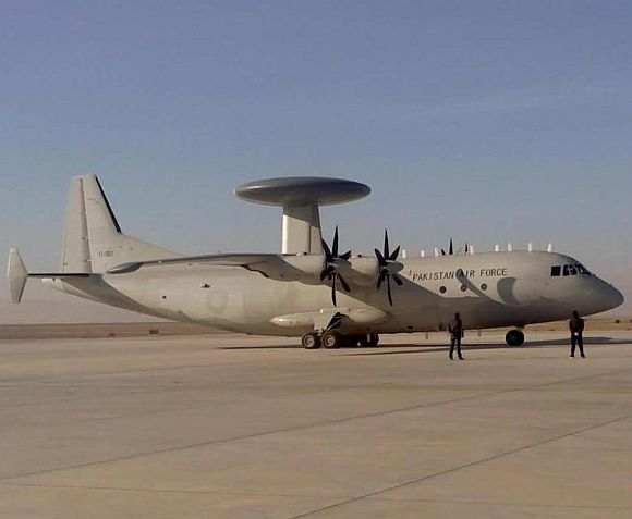 Pakistan Air Force's Chinese-built ZDK-03 airborne early warning aircraft