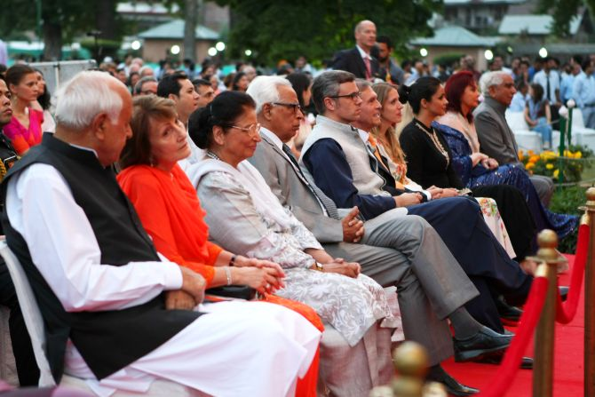 Farooq Abdullah, German ambassador Michael Steiner, Omar Abdullah, Jaswant Singh, Gul Panag among the dignitaries present at the concert