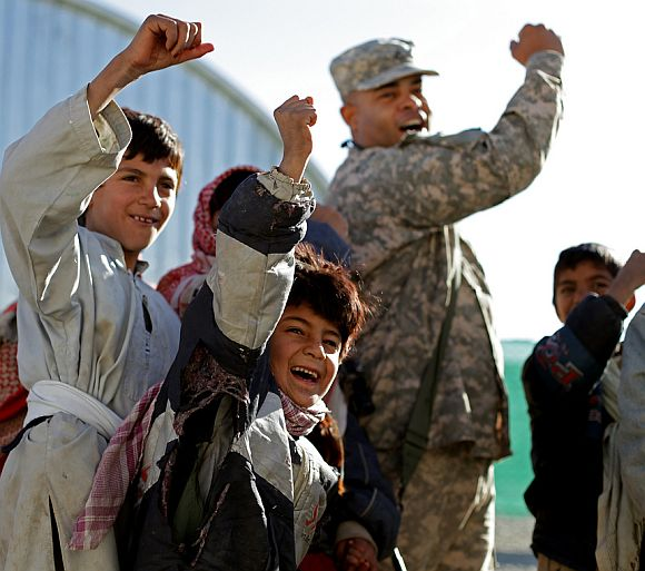 When Afghan kids met 'Captain America'