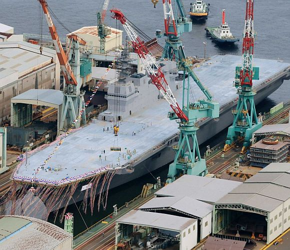Izumo, Japan largest warship since World War II