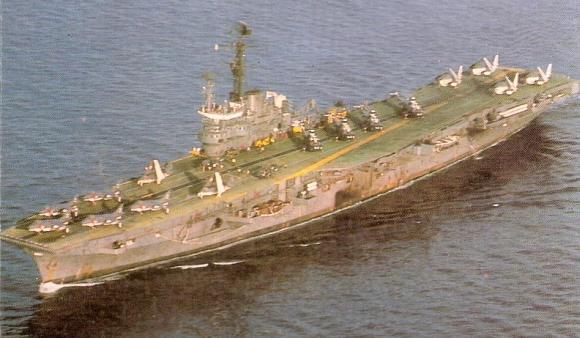 INS Vikrant in 1984