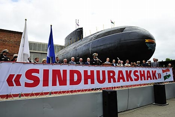 INS Sindhurakshak arrives at the Mumbai port on April 30 after its revamp