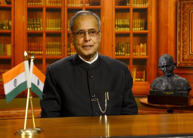 President Pranab Mukherjee addressing the nation on the eve of Independence Day