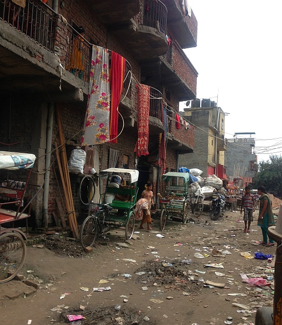 The slum where Deepali and her family live.