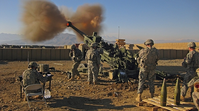 The M777 ultra-light howitzer in action