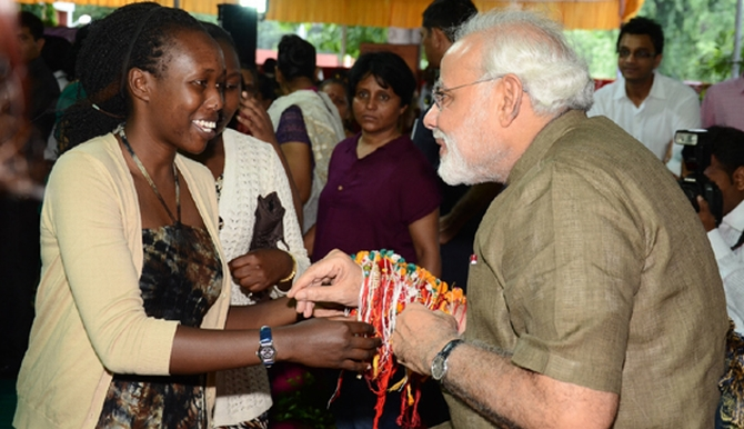 Modi received 5,000 'rakhis' on Tuesday