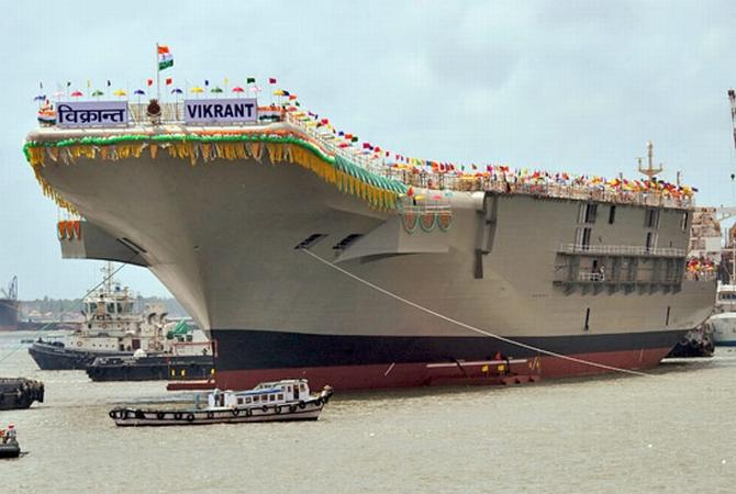 INS Vikrant at the Kochi port