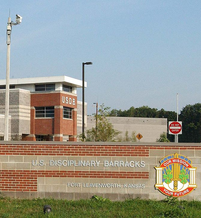 This is the US Disciplinary Barracks, where Manning will spend the next 35 years of his life