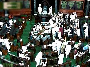 A scene from Parliament's monsoon session
