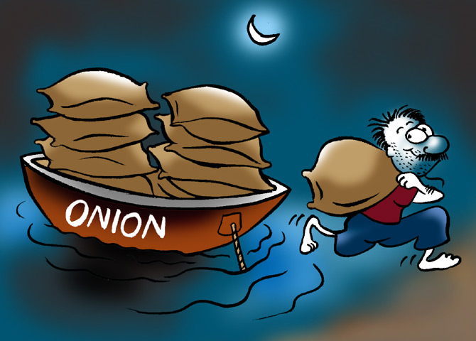 Gold? Naah! Smugglers love their onions right now.