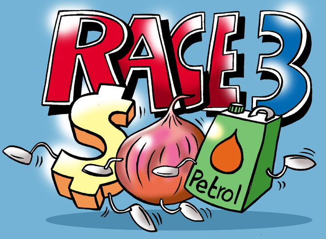 A race to empty the common man's pocket.
