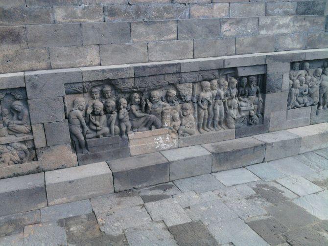 Mural on Krishna's life at Yogyakarta