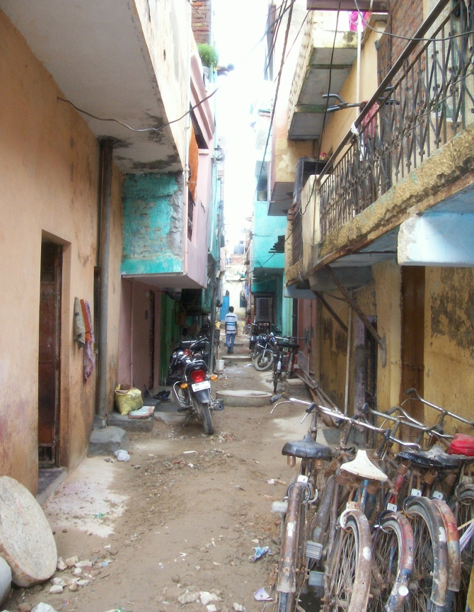The lane where the family of the Delhi gang rape victim lives