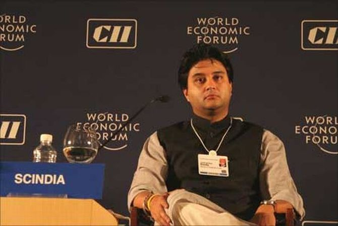 Union minister and MP Congress leader Jyotiraditya Scindia