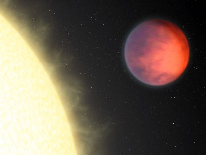 NASA's Spitzer Space Telescope shows a distant planet named upsilon Andromedae b.