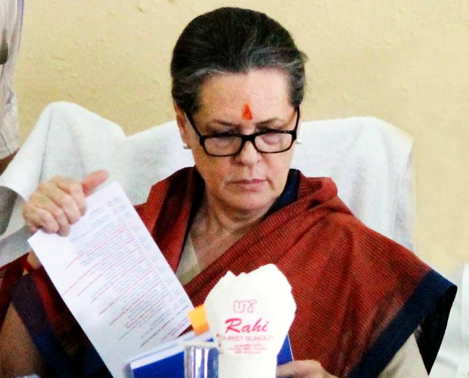 Sonia Gandhi's back in the driver's seat