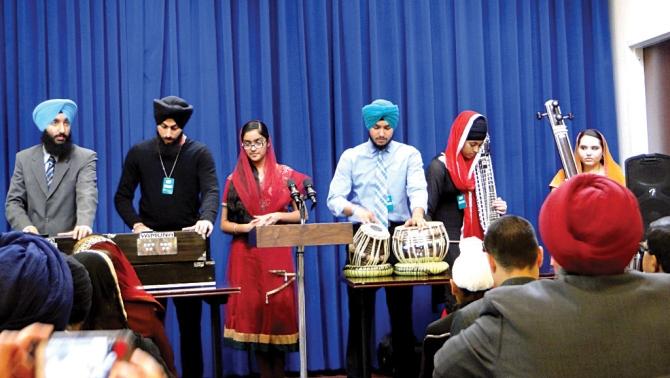 A kirtan recital at the event