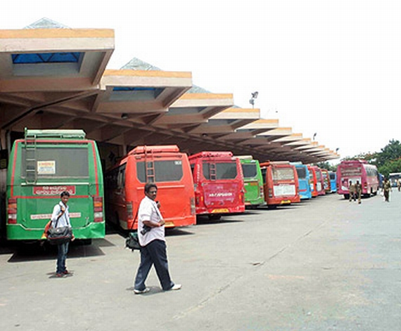 Bus services of the Andhra Pradesh Road Transport Corporation hit