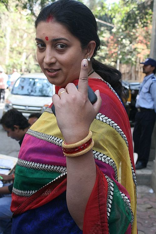 File photo of Smriti Irani