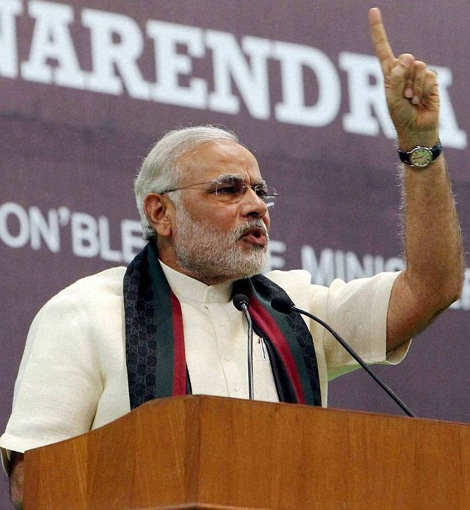 BJP's prime ministerial candidate Narendra Modi