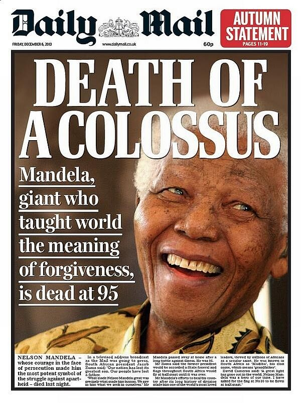 How newspapers bid aideu to Mandela