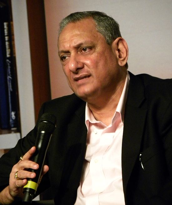 Rakesh Maria interacts with journalists and the audience at the Times Literary Festival in Mumbai.