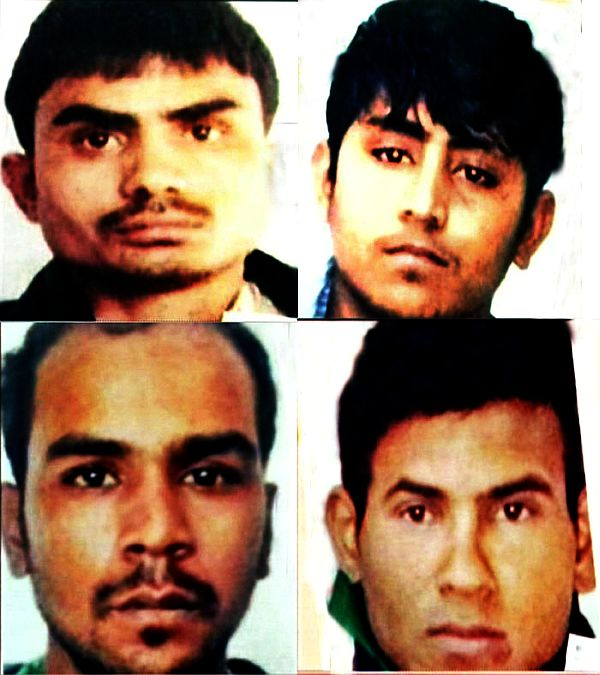 Delhi gang rape convicts (clockwise from top) Pawan, Vinay, Mukesh and Akshay