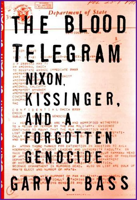 The cover of Gary J Bass's book, The Blood Telegram.