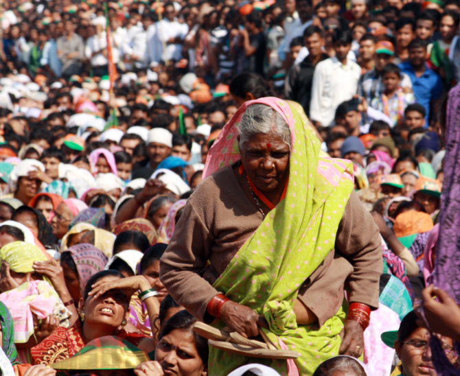In Photos: MODIfied crowd at the Maha Garjana rally