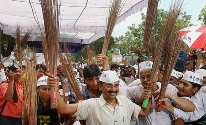 AAP leader Arvind Kejriwal is all set to become the chief minister of New Delhi.