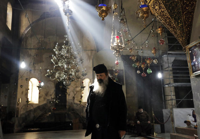 Getting ready Christmas at the Church of Nativity, revered as the site of Jesus' birth.
