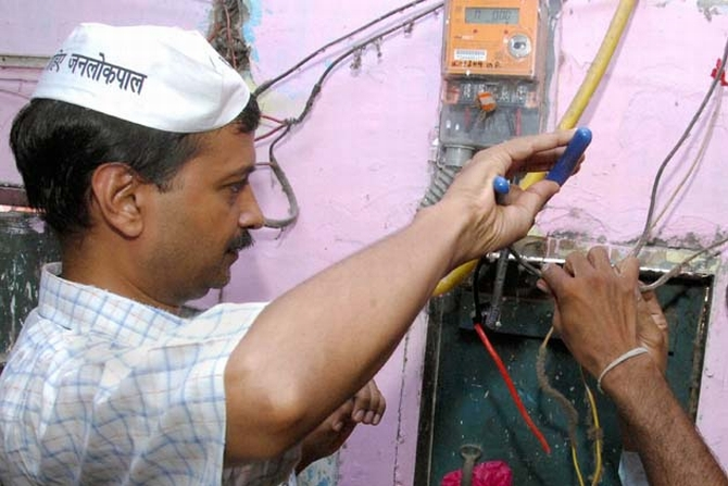 Kejriwal restores electricity in New Delhi