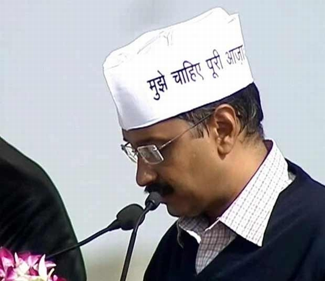 Arvind Kejriwal takes oath as the seventh CM of New Delhi