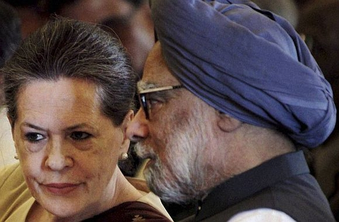 Dr Singh with Congress chief Sonia Gandhi