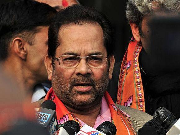 BJP spokesperson Mukhtar Abbas Naqvi