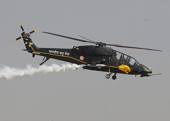 A light combat helicopter of the IAF