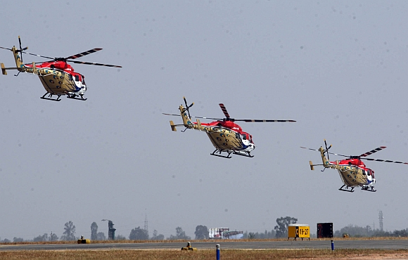Sarang, the helicopter display team of the Indian Air Force