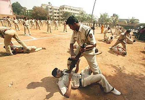 Mumbai police personnel demonstrate self-defence skills as part of their makeover