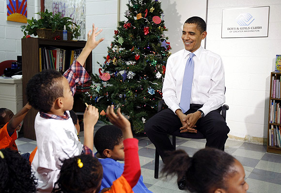 President Barack Obama talked of the need to provide security to children during his second inaugural address.