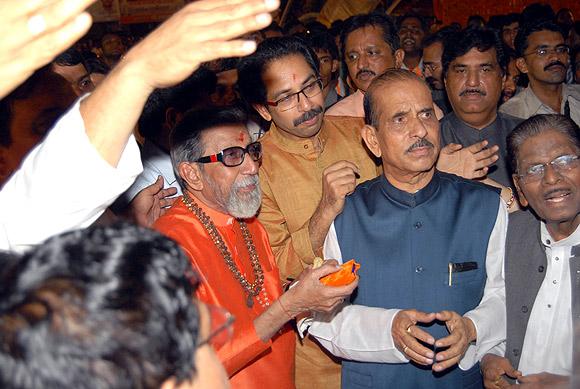Balasaheb Thackeray, Uddhav Thackeray and Manohar Joshi