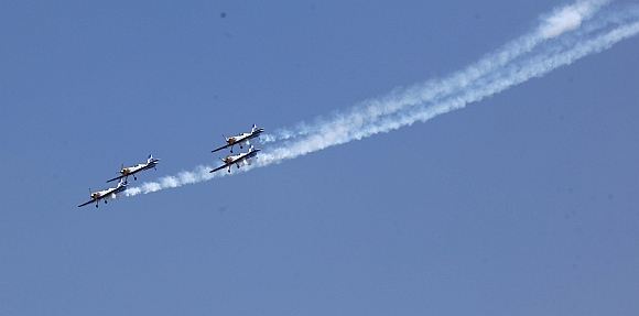 The Red Bulls show their skills at the air show