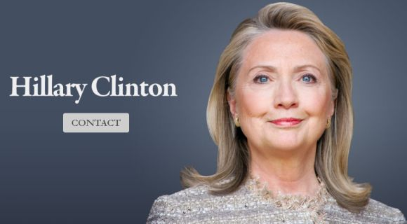 The home page of HillaryClintonOffice.com, the recently released website that has raised speculation that she may be interested to run for the 2016 US presidential polls.