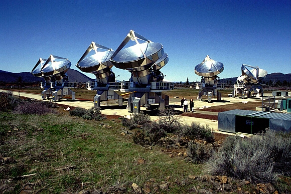 The Allen Telescope Array is the precursor to what will eventually be an array of hundreds, perhaps thousands of small backyard-type satellite dishes linked by sophisticated electronics to create an unparalleled SETI observing instrument.