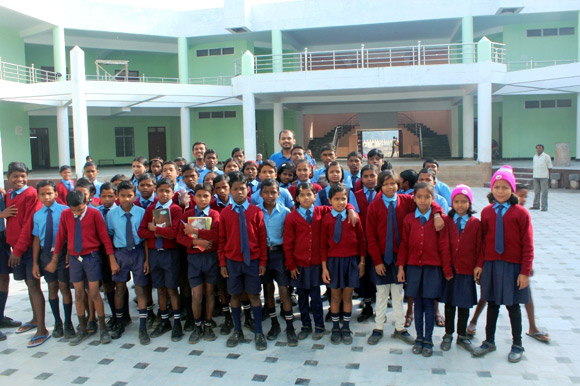 Children under the Nanhe Parinde project reside at Aastha Gurukul Geetham