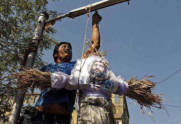 Bajrang Dal, NCP members celebrate Afzal Guru's hanging