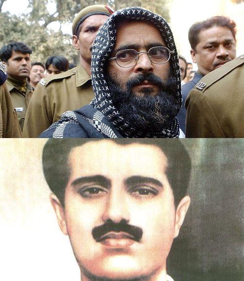 (Above) Afzal Guru (Below) Maqbool Bhat